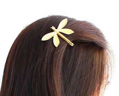 cuhair (TM) 1pc Hochzeit Prinzessin Gold Metall Libelle Haar Clip Haar Pin Accessoires für Damen Mädchen Baby