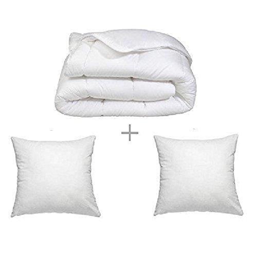 Douce Nuit Couette, Microfiber, Blanc, 220cm x 240cm