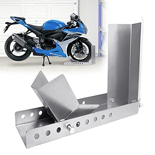 Aufun Verladehilfe Motorrad Wippe Vorderrad Radhalter Motorradständer für Anhänger Vorderrad Transportständer (1 Stück)