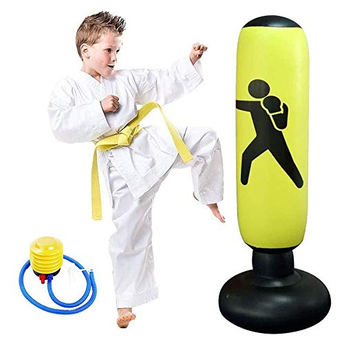 Opblaasbare Boks Bokszak Fitness Sporttas Vrijstaande Target Tower Bag, Mma Ponsen Kick Training Tumbler Bag Geschikt Voor Volwassenen Kinderen