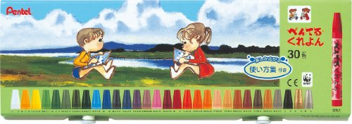 30 how to use color collection with PTCR-30 Pentel crayons (japan import)