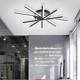 Plafoniera a LED, lampada da soffitto a incasso Ganeed 58W, lampadari acrilici creativi moderni a 5 luci Cool White 6500K Apparecchio di illuminazione per soggiorno, camera da letto, sala da pranzo