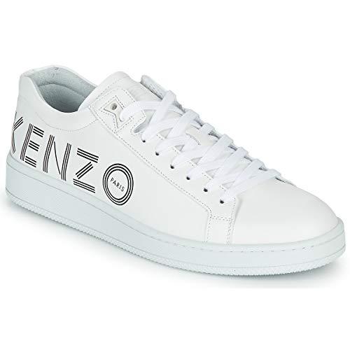 Kenzo TENNIX Low TOP Sneaker Sneaker Hommes Weiss - 43 - Sneaker Low