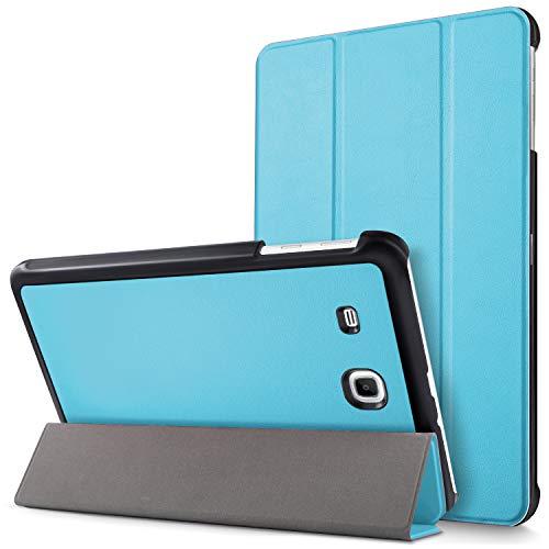 """Mama Mouth Samsung Galaxy Tab E 9.6 Ultra Custodia, Ultra Sottile di Peso Leggero con Supporto in Piedi Caso Case per 9.6"""" Samsung Galaxy Tab E 9.6 T560 T561 Android Tablet,Azzurro"""