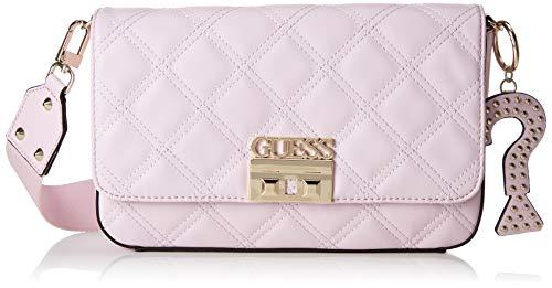 Guess Damen Status Umhängetasche, Pink (Rose/Ros), 28x18x7 centimeters