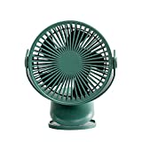 GLF Table Cooling Fan Powered by USB Table Clip Dual-Purpose Fan 4000 MAh Large Capacity Long Battery Life Desk Fan Silent Operation with Four Wind Speeds Strong Wind,Quiet Operation,for Home