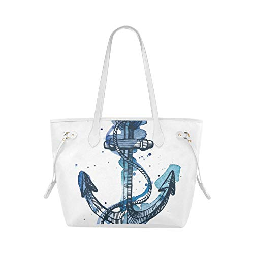 Casual Shoulder Bag Steering Wheel Ship Sea Anchor Travel Bag Tote Handbags Girls Large Capacity Water Resistant With Durable Handle