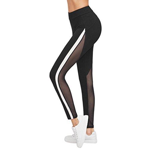 Yoga Hosen Damen Mädchen Yoga Leggings Hose Btruely Hohe Taille Sporthosen Yoga Workout Gym Pants Yoga Leggings Fitness Übung Ausbildung Hose (M, Schwarz 5) - 2