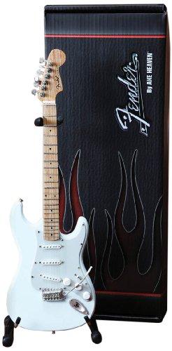 Axe Heaven FS-008 Fender Strat Olympic White Finish Miniatura Guitarra Réplica