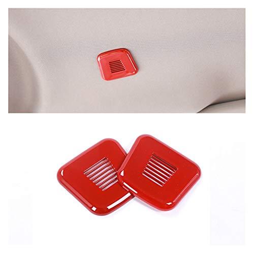 CLEIO Micrófono de automóvil Marco Decorativo Altavoz ABS PLÁSTICO Protector DE Protector Ajuste para Alfa Romeo Giulia Stelvio Accesorios DE Coche Interior (Color Name : Red)