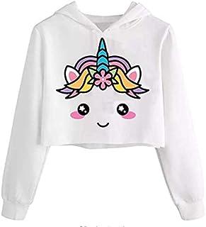 Girls Hooded Crop Tops Jackets Kids Cute Plaid Sweatshirts Fall Hoodie Clothes