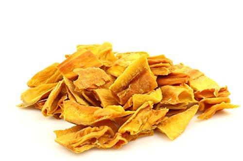 Strisce Di Mango Essiccato Biologico Senza Zucchero 400g Qualità Superiore. Chips Secchi Di Mango Disidratato, Semplicemente Frutta Disidratata Bio, Senza Zucchero, Vegano, Gusto Extra Sano