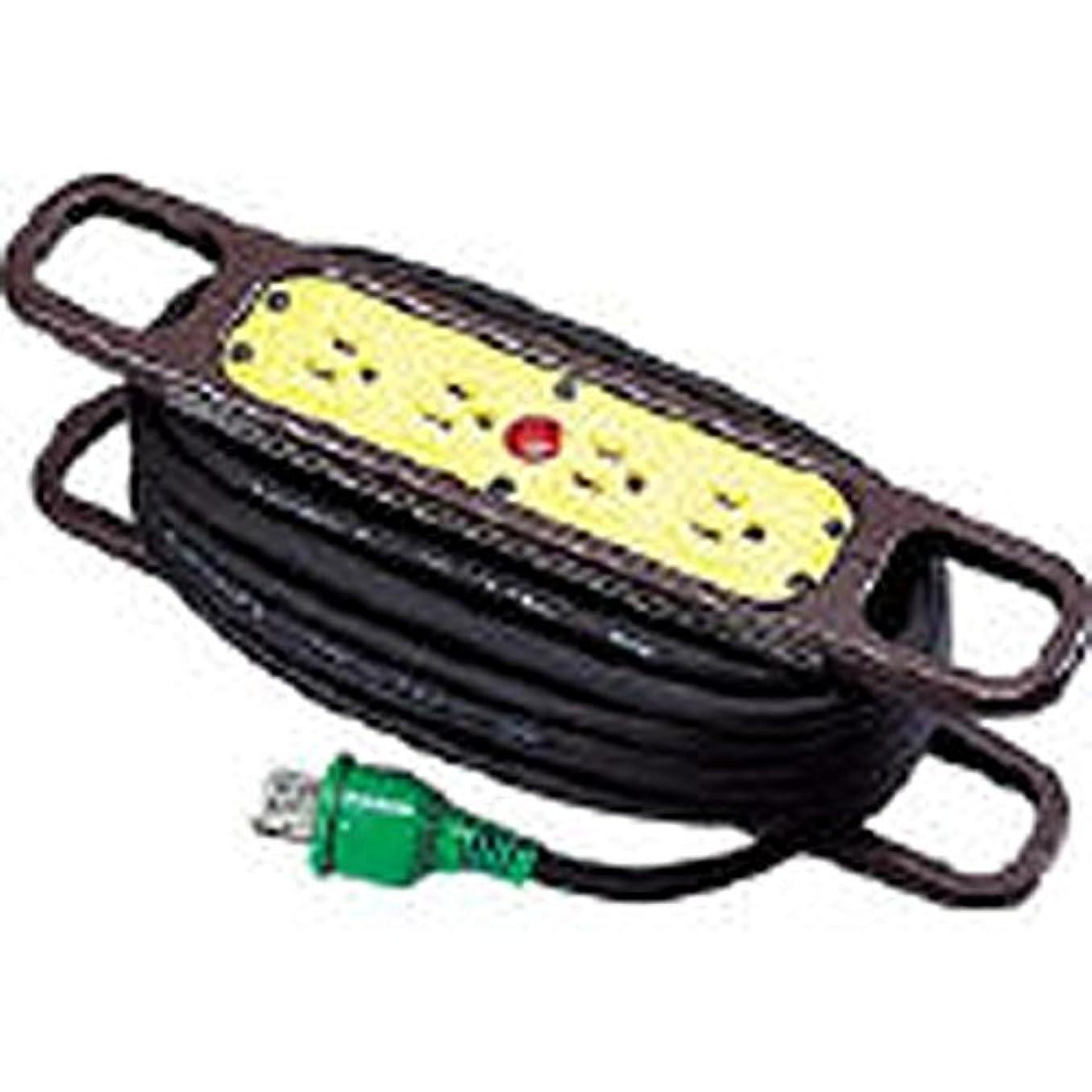 交響曲縫い目省略CM75443 ハンドリール 100V 3芯×10m 黒 アース付