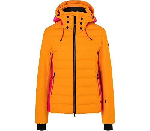 Bogner Fire + Ice Ladies Janka Colorblock-Orange, Damen Daunen Freizeitjacke, Größe 38 - Farbe Bright Orange