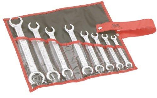 SAM Outillage 100F-TR8 Jeu de 8 clés polygonales à tuyauter 12 pans de 10 à 32 mm