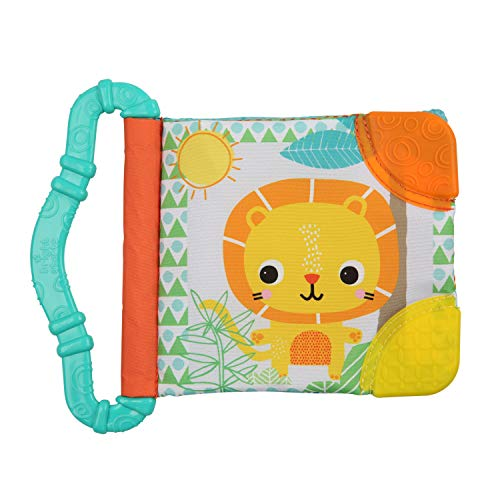 Bright Starts Teethe and Read - Libro per bambini con dentaruolo, Colori assortiti