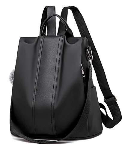 SPEEDEVE Damen wasserdichte Rucksack Anti Diebstahl Tasche,Oxford-schwarz