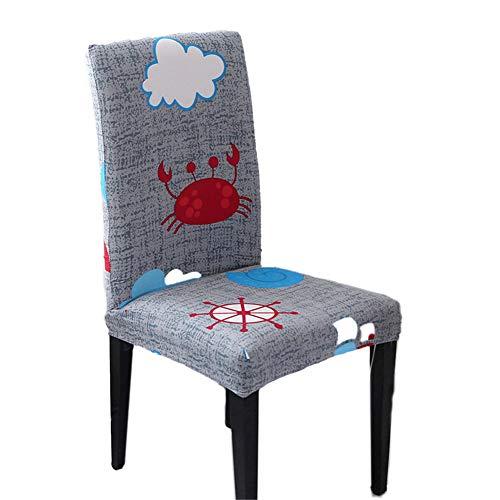 Fundas universales para sillas de comedor, modernas y elásticas, de una sola pieza, fundas protectoras para sillas de comedor extraíbles y lavables. (1-29, 2 piezas)