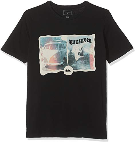Quiksilver Morning Session T-Shirt Garçon, Black, FR (Taille Fabricant : XS/8)