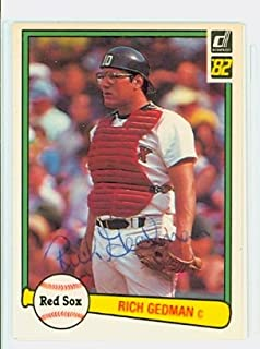 Rich Gedman AUTOGRAPH 1982 Donruss #512 Boston Red Sox