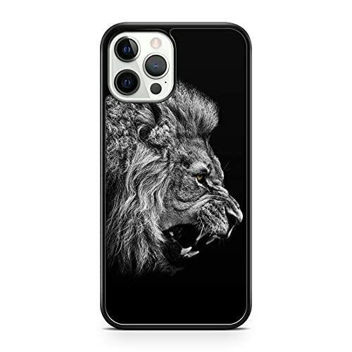 Funda para teléfono con diseño de animales de león majestuoso de Sabre (modelo de teléfono: Google Pixel 4 XL)