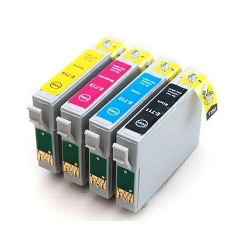 4X Cartuchos Compatibles Tinta para Epson T0711/2/3/4 14ml Colores T23