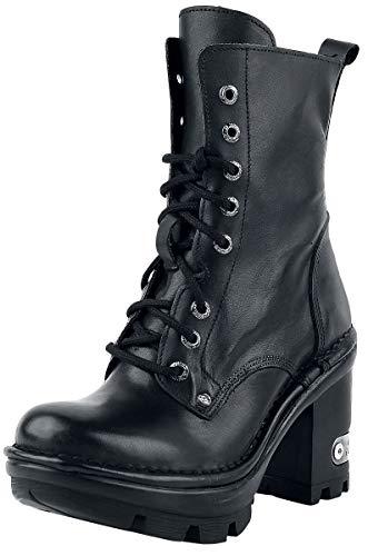 New Rock Neotyre Negro Frauen Stiefel schwarz EU38 Leder Biker, Gothic, Industrial, Rockwear