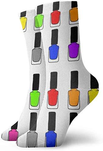 Cute Bi Regenbogen Nagellack Herren Neuheit Socken Lustige Baumwolle Crew Socken Nette Neuheit Kleid Socken für Tourismus Sport Urlaub