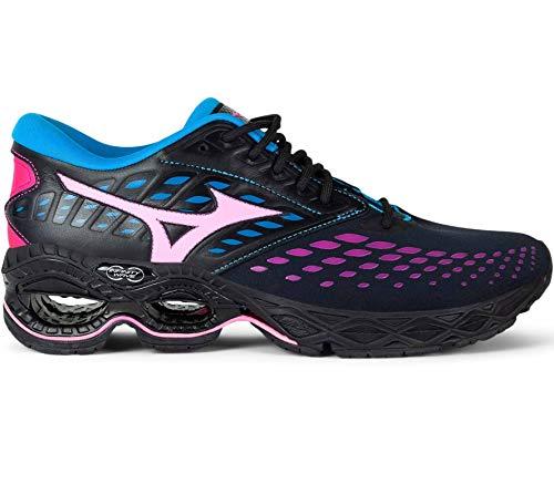 Mizuno Wave Creation LS Lights - Zapatillas de deporte (talla 43), color negro