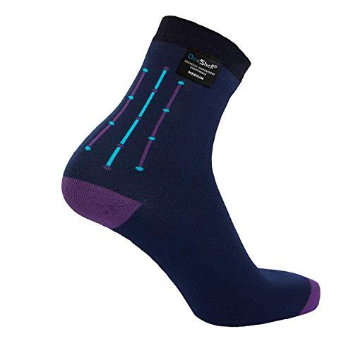 Dexshell DS653NVYJAC Socken, wasserdicht, ultraflexibel, Jacquard, Marineblau