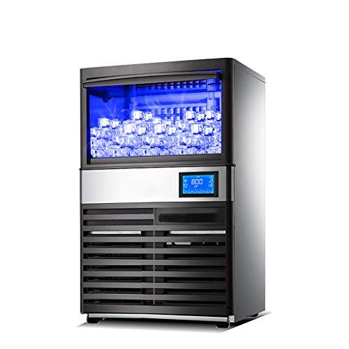 DOOST 380W kommerzielle Eismaschine 220LBS / 24H mit Entwässerungspumpe 44lbs Speicherkapazität Eismaschine 60 Eiswürfel industrielle Eismaschine automatische Reinigung bar nach Hause