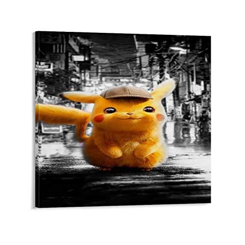 GSSD Póster decorativo de Detective Pikachu para pared, diseño de detective Pikachu