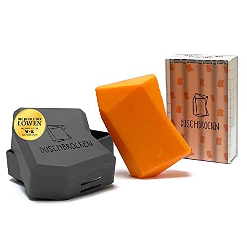 Duschbrocken - Frida Früchtchen I inkl. FAIRpackung I 2in1: Festes Shampoo und Duschgel in einem | für Haut und Haare | nachhaltig, vegan und plastikfrei | Höhle der Löwen | 100g