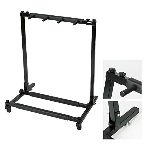 Multi Guitar Stand 3 Holder Folding Organizer Rack Stage Bass Acoustic Electric