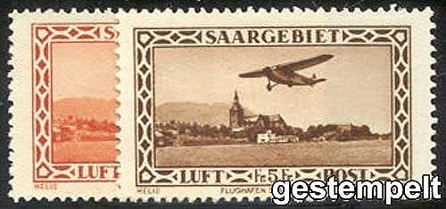 Goldhahn SAAR Nr. 158-159 gestempelt Flugpost 1932  Briefmarken für Sammler
