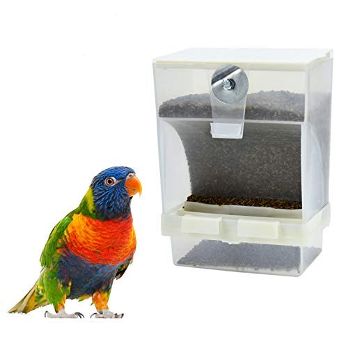 Timoo No Mess Bird Feeder for Cage Automatic Parakeet Feeder Cage Accessories, Load
