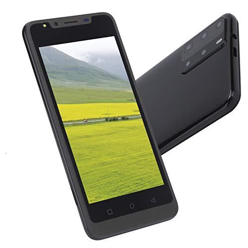 Lazmin112 Teléfono Celular Inteligente con Pantalla HD 960x480, teléfono con reconocimiento Facial, Tarjeta Dual, teléfono móvil con Doble Modo de Espera, 512 MB + 4 GB(Negro)