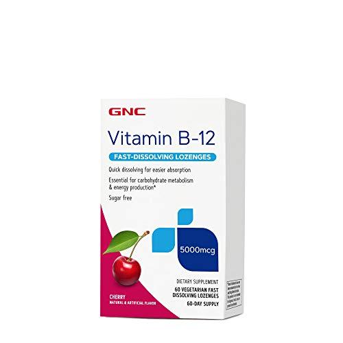 GNC Vitamin B-12 5000 mcg - Cherry