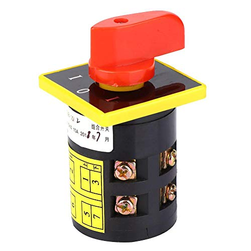 Interruptor de Cambio 10A 380V ~ 3KW HZ5B-10/2 8 Terminales Interruptor de Rotativo de 3 Posiciones Interruptor de Cambio de Combinación de Leva Giratoria (2 capas)