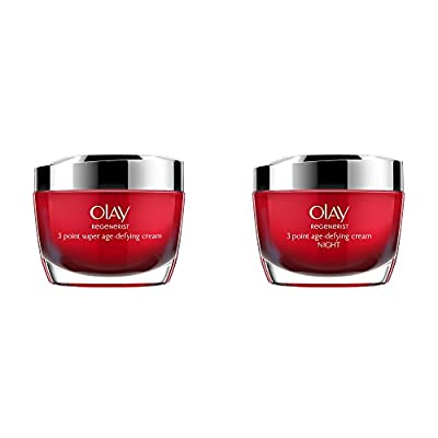 Olay Regenerist 3 Point Super Age-Defying Day + Night Moisturiser, 50 ml, Pack of 1 by