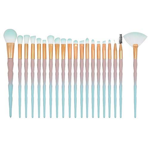Brosses Maquillage de visage 20 dans 1 diamant poignée Brosse yeux Maquillage multi-fonctionnel brosse, rose + poignée bleue et le ciel bleu brosse, Maquillage Brush Set (Color : Color4)