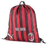 MAESTRI DEL CALCIO Sacca Tempo Libero Nera Ufficiale A.C. Milan 2019/2020 Personalizzata Personalizzabile