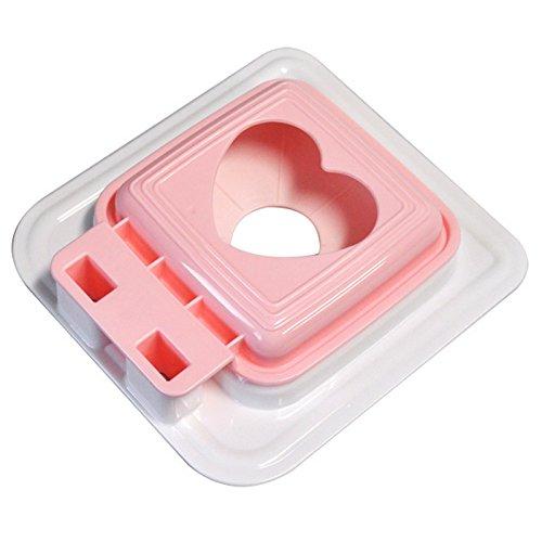 JapanBargain 3145, Japanese Sandwich Press Maker Pan Pita Uncrustable Sandwich Cutter and Sealer for Bento Box Made in Japan