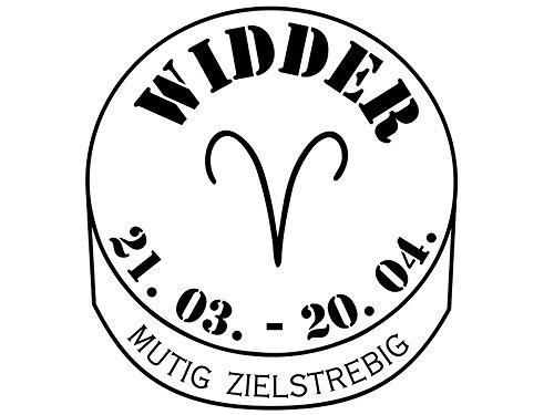 Wandtattoo-bilder® Wandtattoo Sternzeichen Widder Nr 3 Wandsticker Wandaufkleber Farbe Hellgrau, Größe 70x76