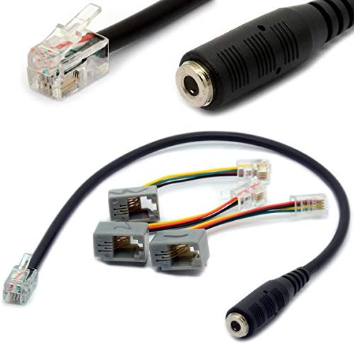 4P4C RJ9 / RJ10 a 3.5mm hembra adaptador de auriculares Cable estéreo...