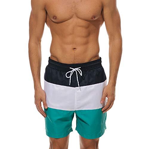 VECDY Herren Hose Sport Strandhose Sommer Badebekleidung Sport Quick Dry Stripe Strand Shorts Bermudas Trunks Board Pants Mode Sporthosen Badehose