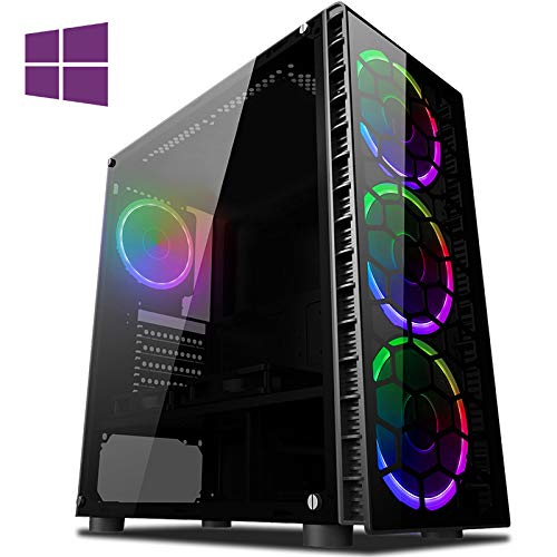 Vibox CX- 3 Gaming PC Computer with 2 Free Games, Windows 10 Pro OS (4.2GHz Intel i3 Quad-Core Processor, Nvidia GeForce GTX 1050 Ti Graphics Card, 8GB DDR4 2400MHz RAM, 1TB HDD)