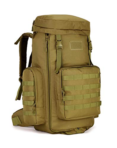 outdoor plus Backpacking Backpack, 60L/65L/70L/85L Waterproof MOLLE Rucksack Hiking Hunting