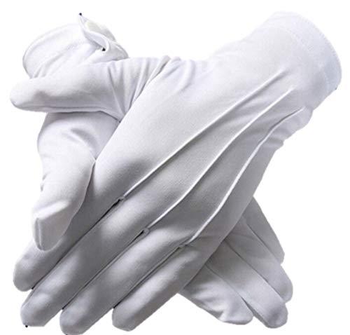 Pile Stone 礼装用 手袋 白 5双セット M 式典 フォーマル パレード用 グローブ 司会 運転用 ホワイト 警備 吹奏楽団 ブラスバンドドライブ用 グローブ 車掌 まとめ買い