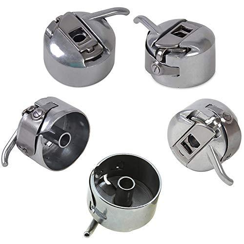 5 unidades cápsulas universales bobina, accesorio costura de acero inoxidable para la mayoría las máquinas coser, bobbin Case piezas repuesto, accesorios costura, accesorios para máquina coser